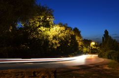 Nigth scene with road Stock Photo