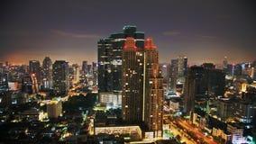 Nigth sky over city Stock Photo