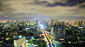 Nigth sky over city Stock Photography