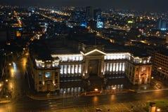 Nigth view on Palacio de Jvsticia stock photos