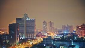 Nigthhemel over stad Stock Foto