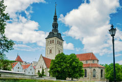 Niguliste church in tallinn Stock Images