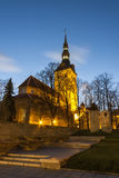 Niguliste church in Tallinn, Estonia stock photos