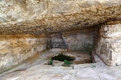 Niha vaggar fästningen, Chouf, Libanon Royaltyfri Fotografi