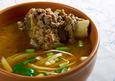 Nihari Gosht with Varqi Paratha Stock Images