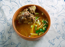 Nihari Gosht with Varqi Paratha Royalty Free Stock Photos