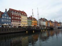 Nihavn - Copenaghen - Denemarken Stock Foto's