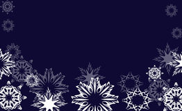 Nihgt snowflakes vector Royalty Free Stock Photos
