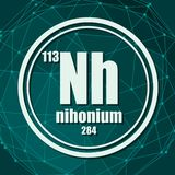 Nihonium化学元素 皇族释放例证