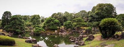 Nijo castle gardens panoramic view, kyoto, kansai, Japan stock photography