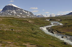 Nijak Mountain in Sarek National Park Royalty Free Stock Photos