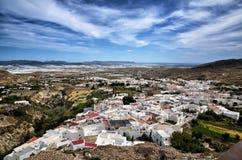 Nijar,阿尔梅里雅省,安大路西亚,西班牙村庄  图库摄影