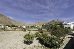 Nijar,Almeria, Spain Royalty Free Stock Photography