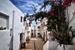 Village of Nijar, Almeria province, Andalusia, Spain. Nijar, a lovely and white village in Andalusia, Spain. Mediterranean destination near the natural park of stock images