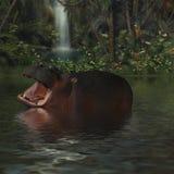 Nijlpaard royalty-vrije illustratie