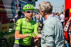 Nijmegen, Netherlands May 8, 2016; Davide Formolo professional cyclist during an interview Royalty Free Stock Photography