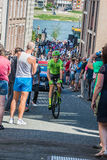 Nijmegen, Netherlands May 8, 2016; Davide Formolo professional cyclist during transfer Stock Images