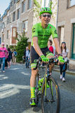 Nijmegen, Netherlands May 8, 2016; Davide Formolo professional cyclist during transfer Royalty Free Stock Photo