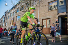 Nijmegen, Netherlands May 8, 2016; Davide Formolo professional cyclist during transfer Stock Photography
