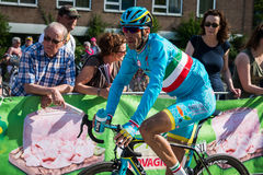 Nijmegen, Netherlands May 7, 2016; Vincenzo Nibali finishing the sprint in  the second stage Royalty Free Stock Photos
