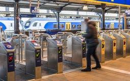 Nijmegen stacja z odpraw bramami Obrazy Stock