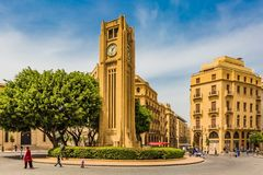 Nijmeh-Quadrat im Stadtzentrum gelegenes Beirut der Libanon stockfoto
