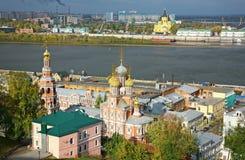 Nijni-Novgorod pendant le matin photographie stock