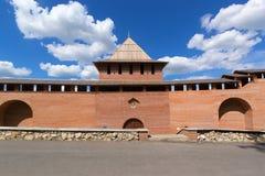 Nijni-Novgorod, Russie, juillet 20,2013, la vue de mur de Kremlin de la cour Images libres de droits