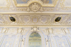 Nijni-Novgorod, Russie - 03 11 2015 Le plafond de la salle de bal dans le domaine Rukavishnikov de musée Image libre de droits