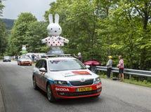 Nijntje有蓬卡车-环法自行车赛2014年 免版税库存照片