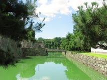Nijo城堡护城河 库存照片