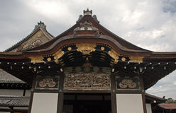 Nijo城堡的,京都,日本Ninomaru宫殿 库存图片