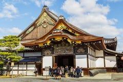 Nijo城堡的Ninomaru宫殿在京都,日本 免版税库存图片