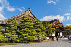 Nijo城堡的Ninomaru宫殿在京都 图库摄影