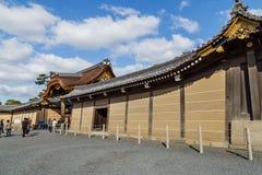 Nijo城堡的Ninomaru宫殿在京都 库存照片