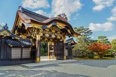 Nijo城堡的Ninomaru宫殿在京都 免版税库存照片