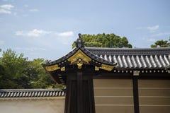 Nijo城堡的Ninomaru宫殿在京都 免版税图库摄影