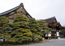 Nijo城堡Ninomaru宫殿的外部  免版税库存照片