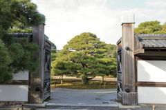 Nijo城堡Ninomaru庭院  免版税库存照片
