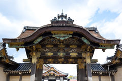 Nijo Castle. World Heritage Site in Japan. It was constructed in 1603.  is a flatland castle located in Kyoto, Japan. The castle consists of two concentric Stock Photography