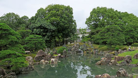 Nijo castle garden pond in Kyoto Royalty Free Stock Photography