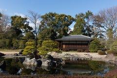 Nijo Castle in Kyoto, Japan. Garden of Nijo Castle in Kyoto, Japan. Nijo Castle was built in 1603 as the Kyoto residence of Tokugawa Ieyasu, the first shogun of Stock Photo