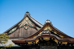 Nijo Castle roof details. A roof of Nijo Castle, KYOTO, Japana Royalty Free Stock Photos