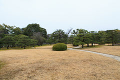 Nijo Castle in Winter Season. Kyoto Japan Royalty Free Stock Photo