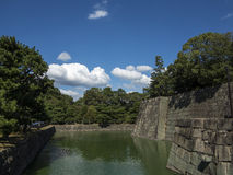 Nijo-jo castle defense water moat Stock Photography