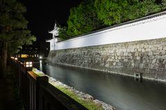 Nijo Jo Castle at Night, Kyoto, Japan. Historical building royalty free stock images