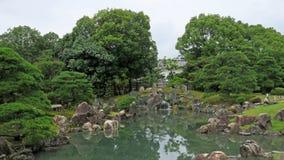 Nijo kasztelu ogródu staw w Kyoto Fotografia Royalty Free