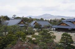 nijojo城堡的Ninomaru宫殿在京都,日本 免版税库存照片