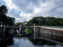 Nijubashi Bridge and Imperial Palace - Tokyo, Japan Stock Images