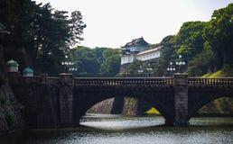 Nijubashi broTokyo imperialistisk slott Japan arkivbilder